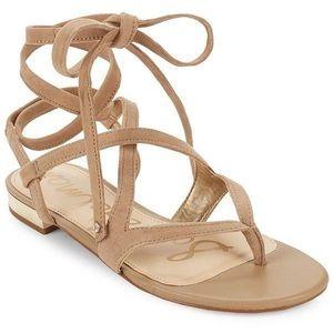 Sam Edelman Davina suede tie up sandal